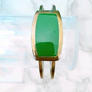Jewelry - Green Hinge Vintage Bracelet
